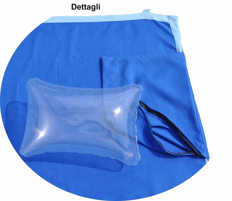 Comodo Mikrofaser-Handtuch für Liegestühle mit Seite Taschen 70 x 185 cm