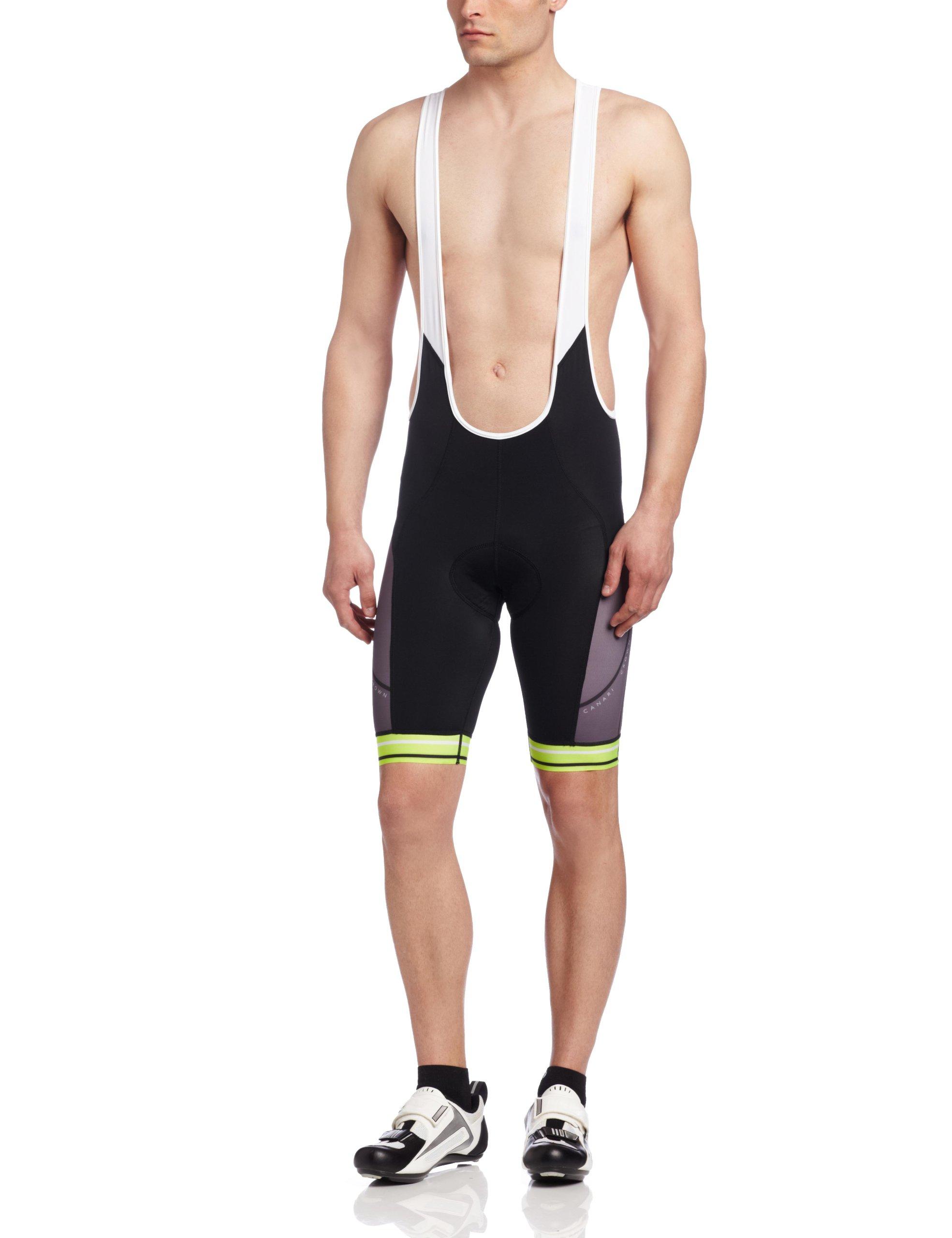 Canari Men's Cyclewear Crown Bib Shorts, Killer Yellow, Small