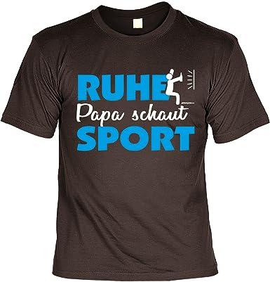 Papa Vater Sport Spass Fun Shirt Rubrik Lustige Spruche Ruhe Papa