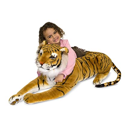 Amazon Com Melissa Doug Tiger Plush Melissa Doug 2103 Toys