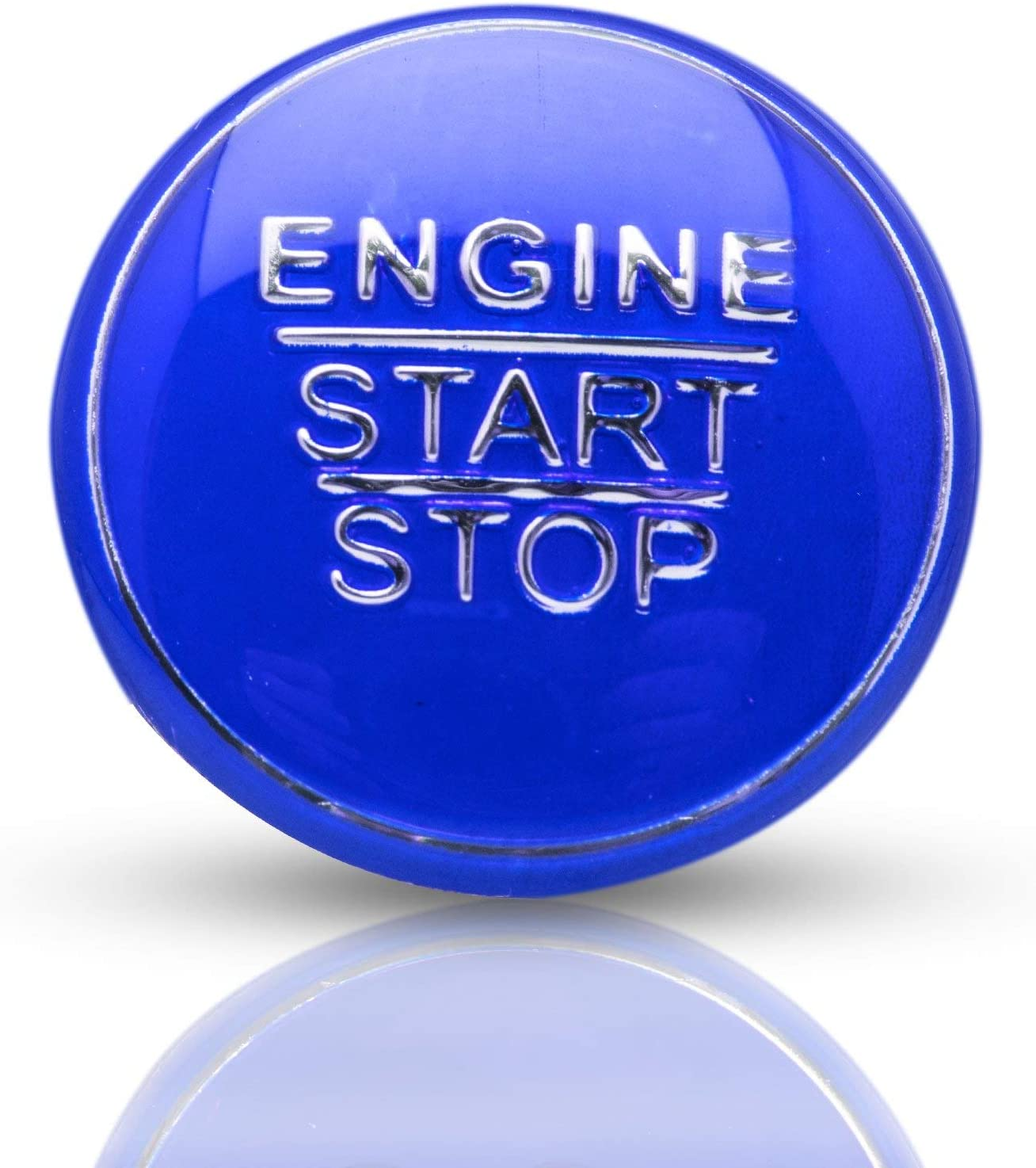 Xotic Tech Blue Car Engine Start Stop Button Cover Keyless Go Ignition Decor Stickers for Toyota Camry Corolla Prius Avalon Yaris Avensis