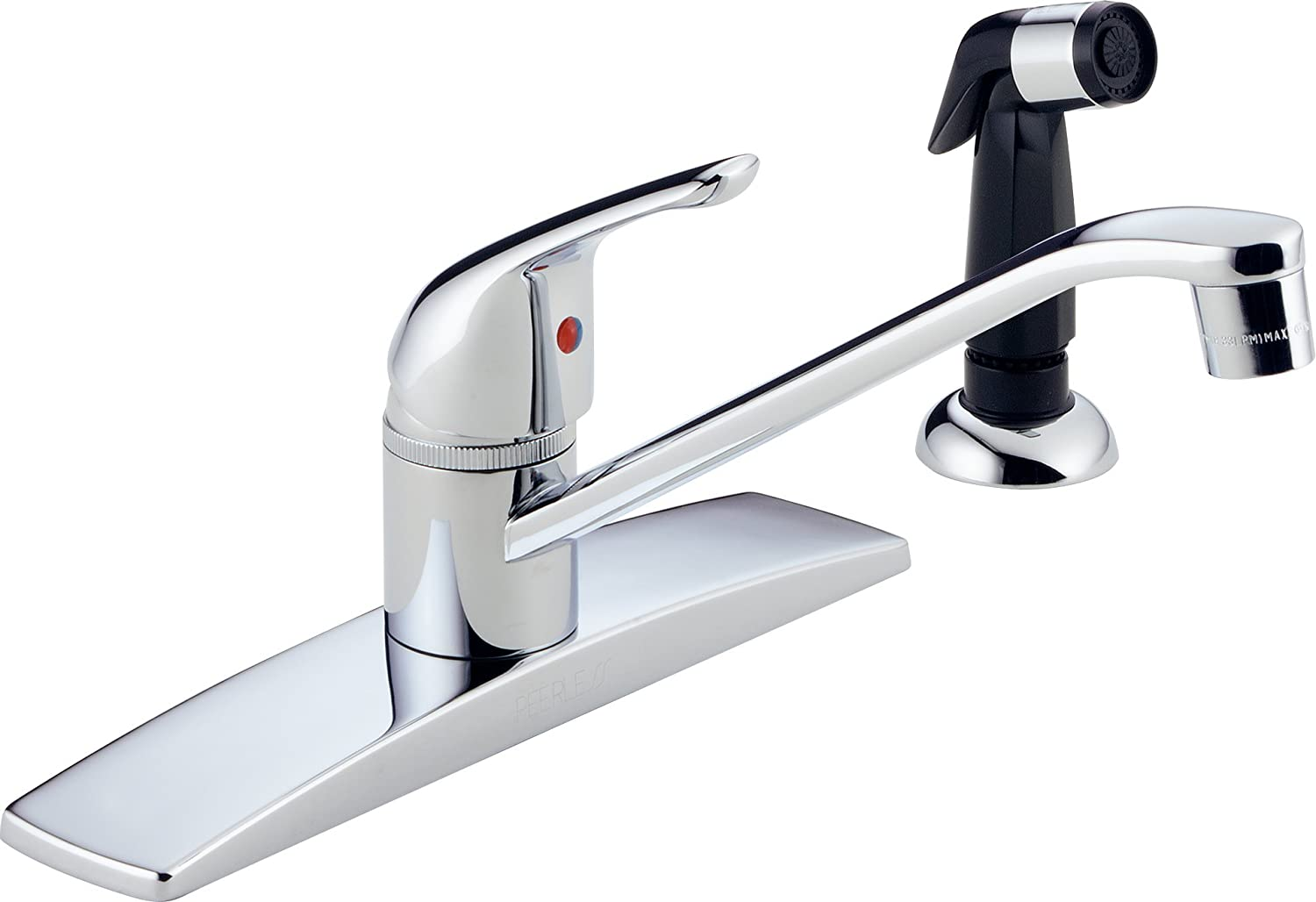 Peerless P15LF Classic Single Handle Kitchen Faucet, Chrome