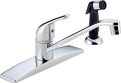 Peerless P15lf Classic Single Handle Kitchen Faucet Chrome