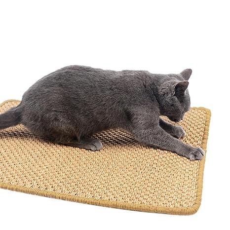Biback Kratz Tabla para Gatos Cat Scratch Tarjeta Silla Mesa Protector Huellas Grinder Cat Sisal Mat