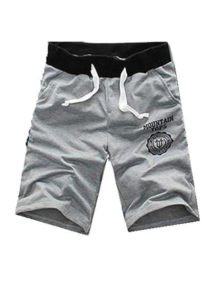 Pantalones cortos de los hombres de la moda Pantalones cortos de algodón Gimnasio Pantalones deportivos para correr… xZvUZ