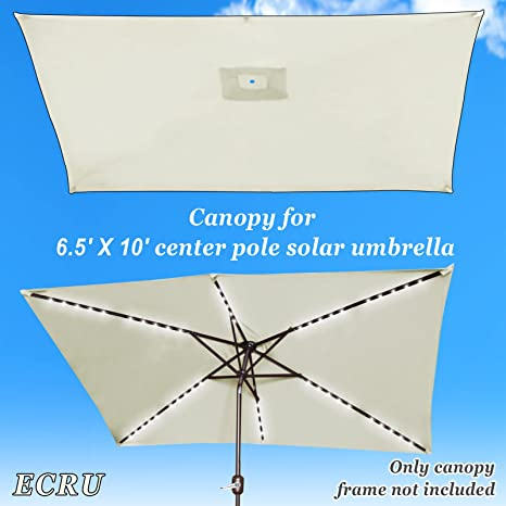 efb3a590efad Strong Camel Replacement Umbrella Canopy for 10ft x 6.5 ft 6 ribs Patio  Umbrella Top Cover Outdoor Market (Canopy Only) (Ecru)