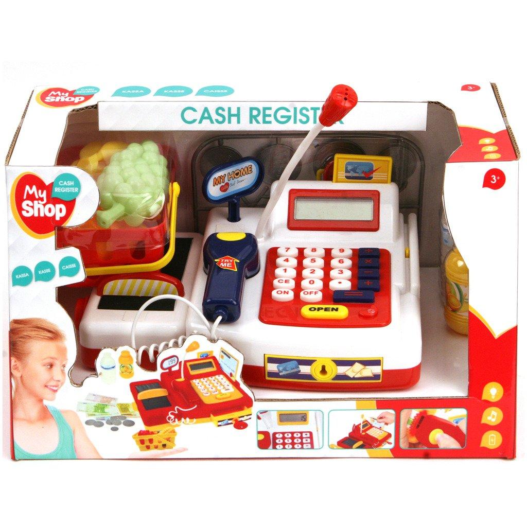 My Shop Niños Caja registradora Caja registradora con función y accesorios para tienda supermercado