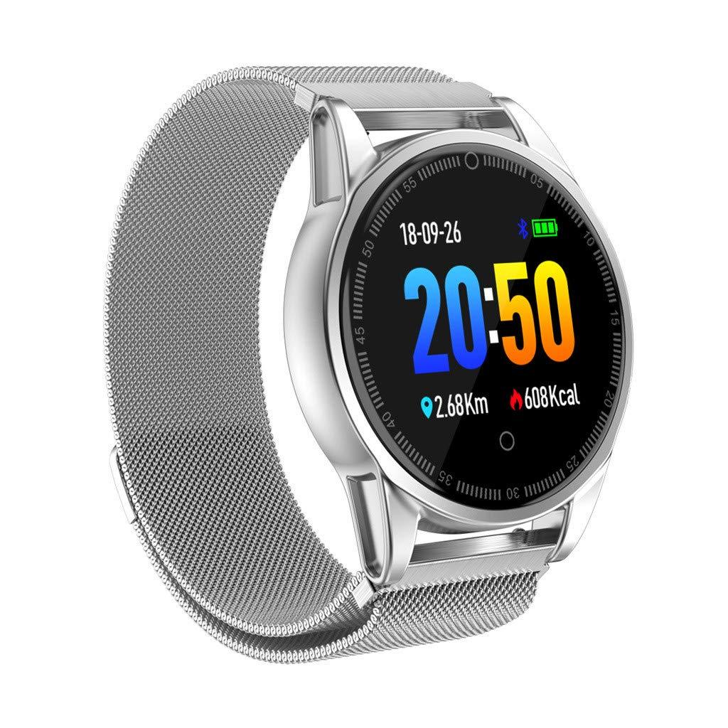 LUXISDE Fitness Bracelet Smartwatch Ladies, Activity Tracker Heart Rate Activity Pedometer Music Control Smart Bracet for Kids Men by LUXISDE (Image #3)