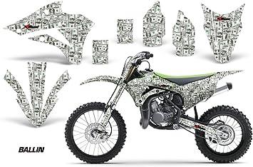 AMR Racing MX Dirt Bike Graphics kit Sticker Decal Compatible with Kawasaki KX80 KX100 1995-1997 Hatter Green