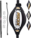 RDX Double End Speed Ball Maya Hide Leather Boxing Ball Dodge Speed Bag Punching MMA Training Workout Floor to Ceiling…
