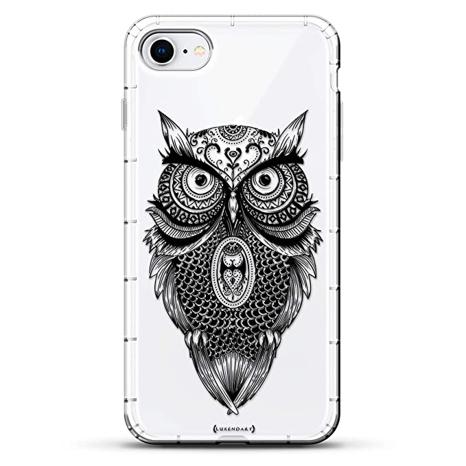 5034e3c71 Amazon.com: Animals: Black Sketched Artistic Owl   Luxendary Air ...