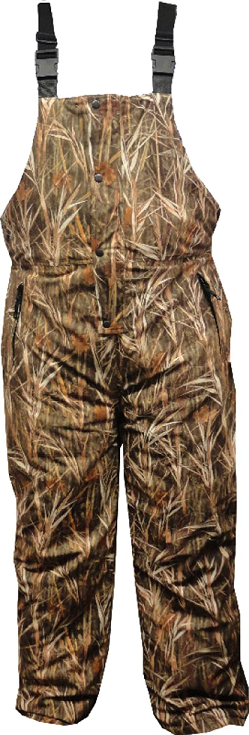 Burly Waterfowl Camo Waterproof Breathable Insulated Bib Overall World famous Sports