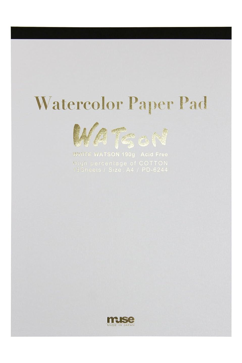 セッティング順応性のある増幅するミューズ 水彩紙 ホワイトワトソンブロック F4 300g ホワイト 15枚入り HW-304 F4
