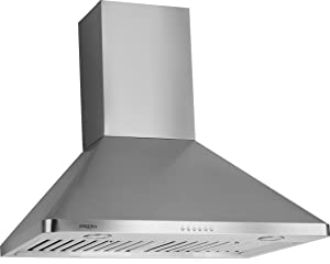 Ancona Rapido Chef II Pyramid 900 CFM Wall Mount Range Hood, 30-Inch