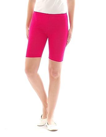 Femmes Sport Shorts Shorty Shorts Sport Radler court Leggings Coton - Rose 6c3f36fe46b