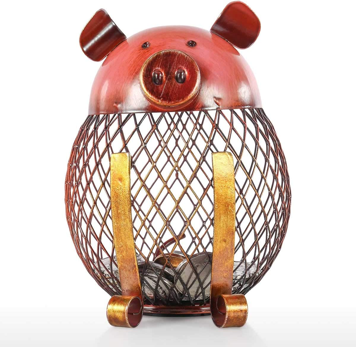 Walmeck Piggy Bank Children Toy Bank Iron Coin Holder Boy Girls Coin Money Cash Saving Box for Decoration or Gift