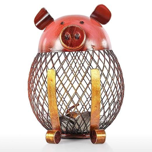 Contador Hucha Hucha de Hierro Contador Original de Euros para Decoraci/ón del Hogar Banco de Moneda con Forma de rat/ón Animal