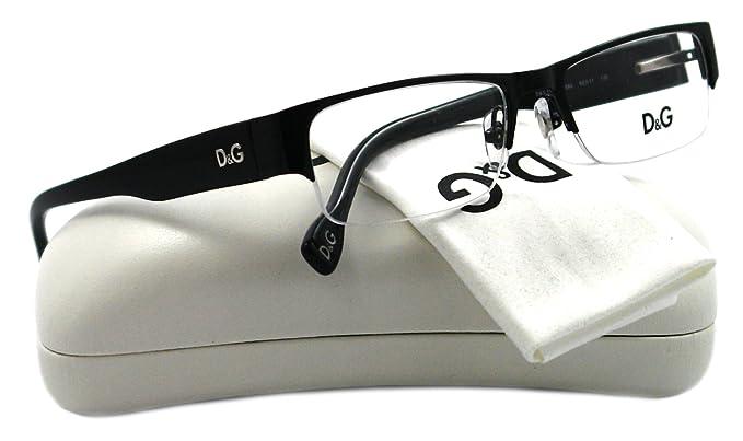 D&g By Dolce & Gabbana Men\'s 5074 Black Frame Metal Eyeglasses, 52mm ...
