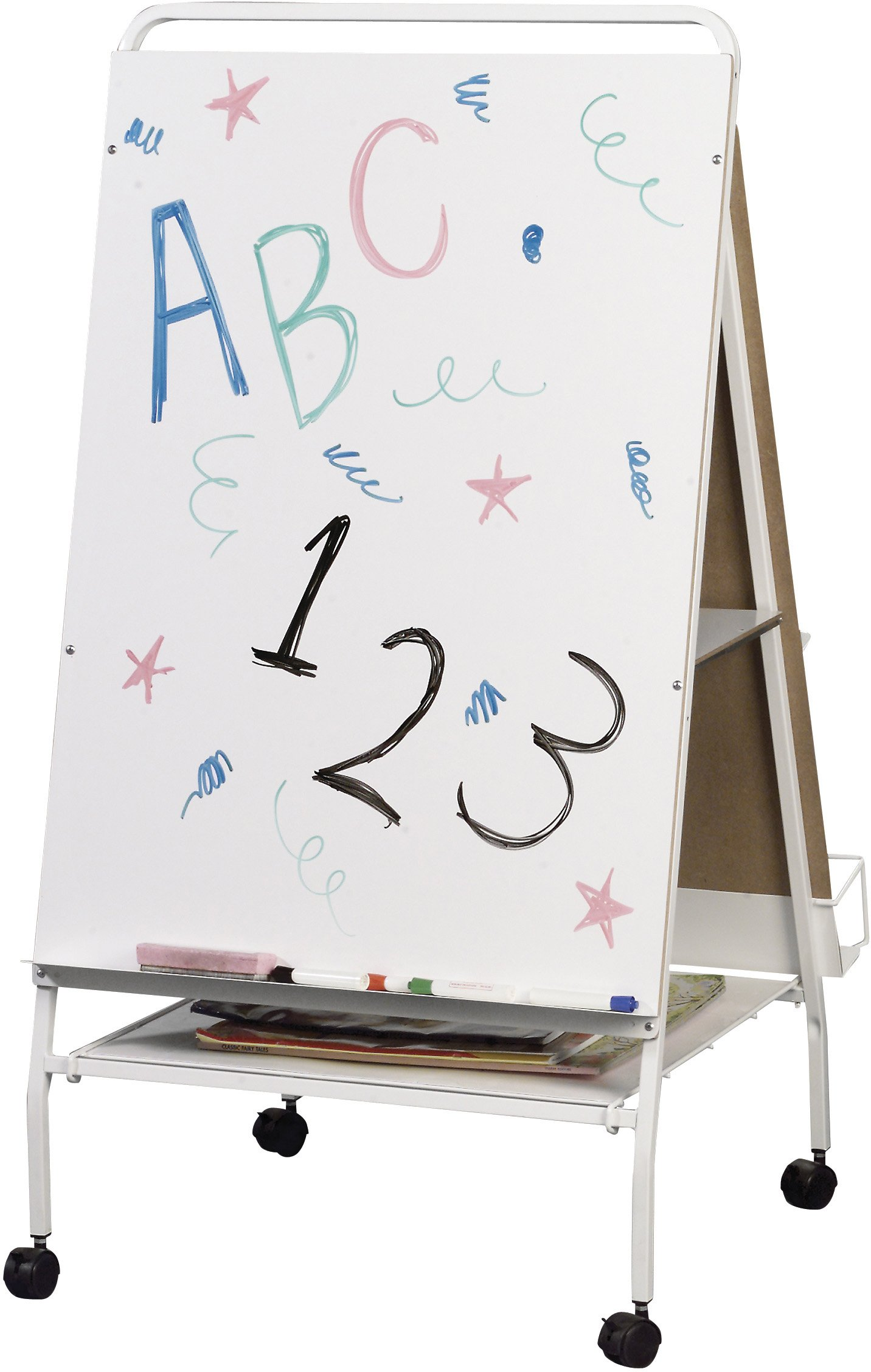 Best-Rite Baby Folding Easel with Middle Storage Tray, Teacher Easel Station (784) by Best-Rite