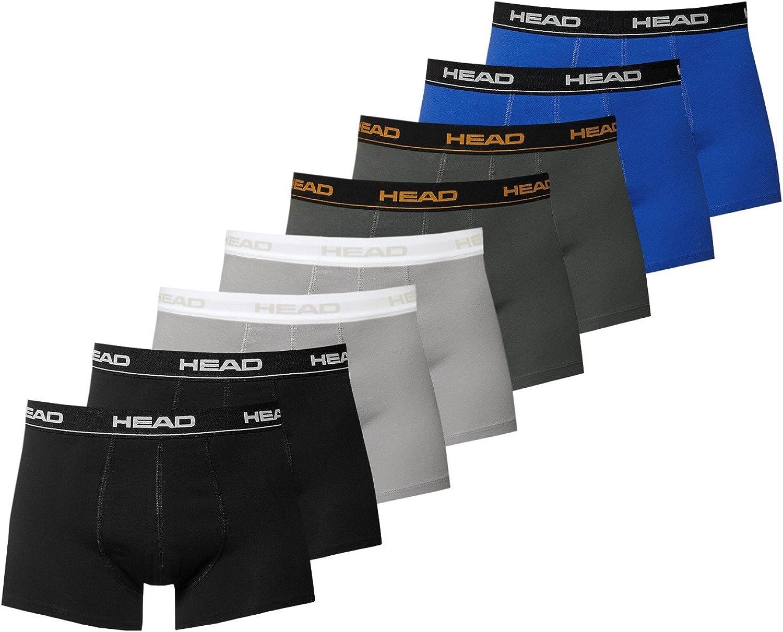 2 x blu//nero 2 x sfumature scure L Head 841001001 Confezione 8 mutande boxer basic da uomo 2 x nero 2 x grigio