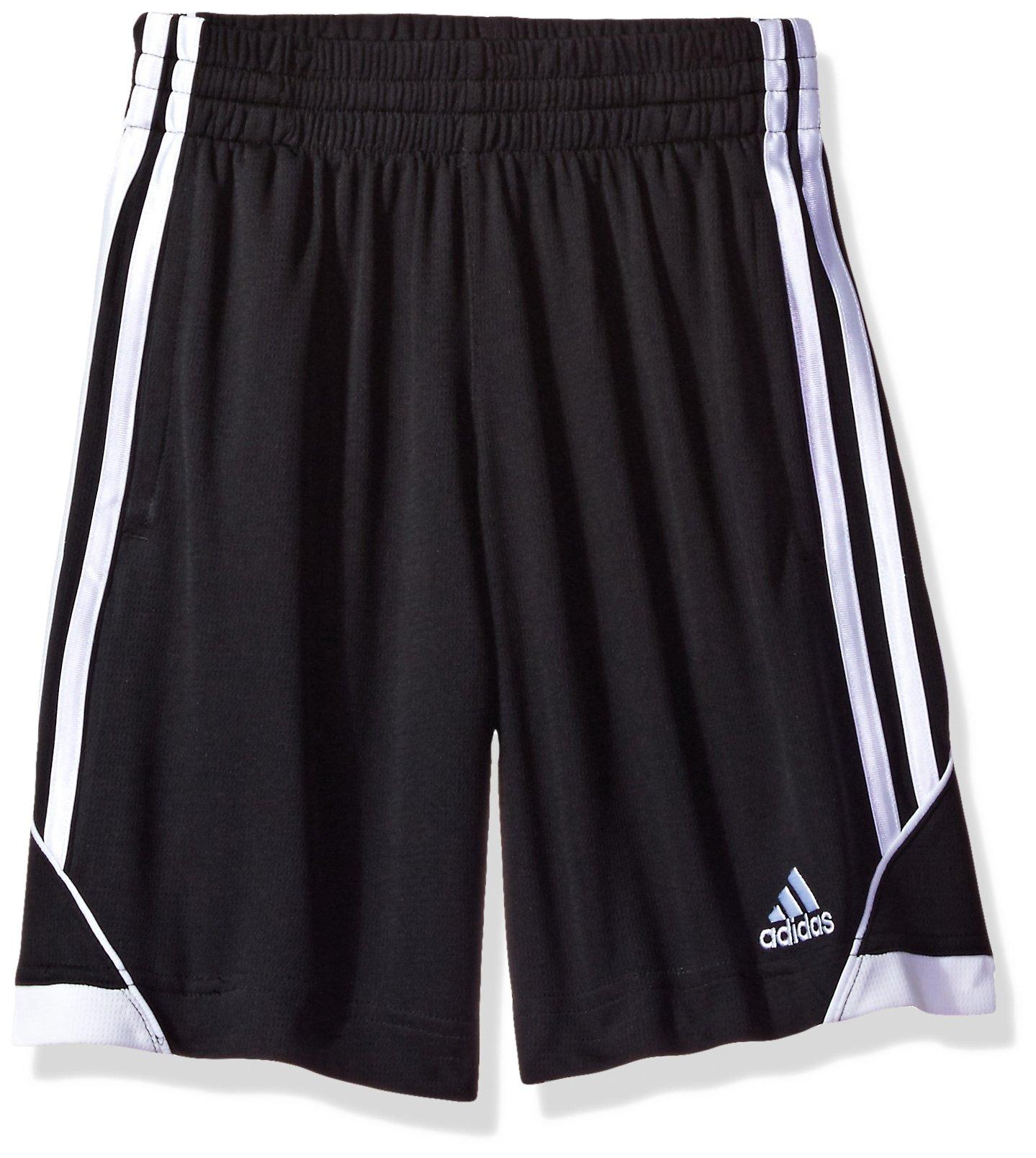 Adidas Boys' Little Athletic Short, Caviar Black, 7