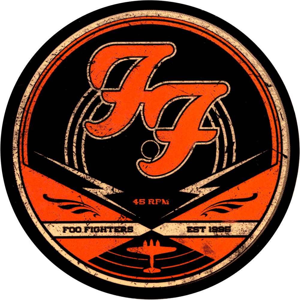Amazon Foo Fighters 45 Rpm Record Label Style Logo Die Cut