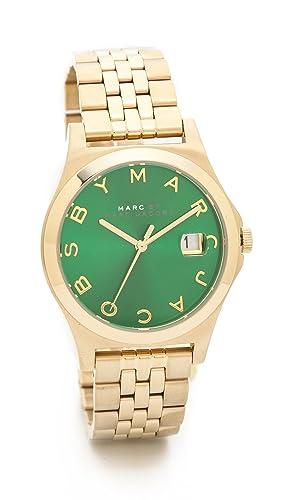Marc por Marc Jacobs el Delgado de la mujer reloj, oro/hierba fresca, un tamaño: Amazon.es: Relojes