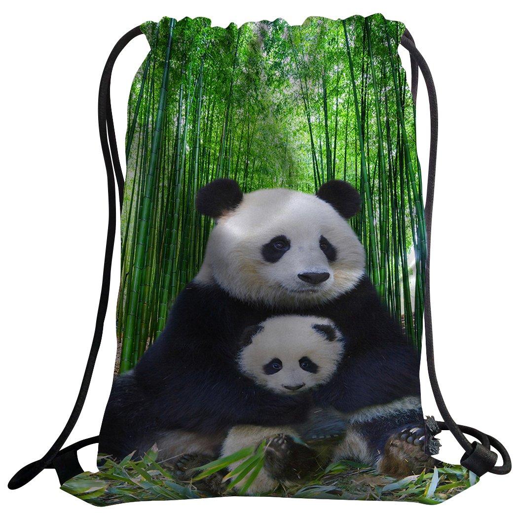sxchenジムバッグ袋巾着スポーツバックパックキュートパンダ母と息子 B07BGVRCJW
