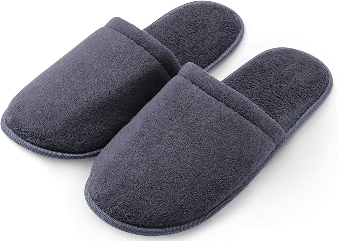 Slippers with Memory Foam – Gray