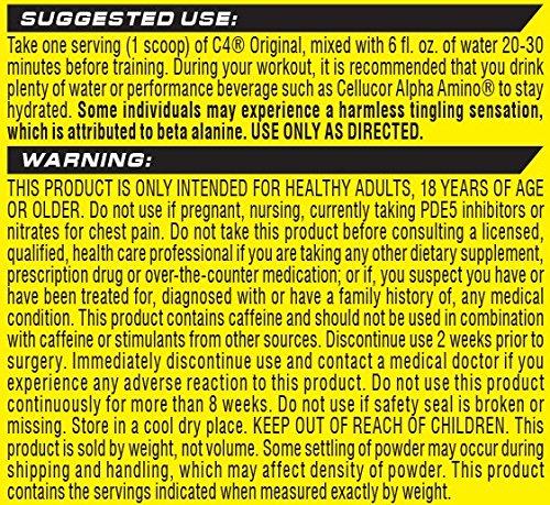 Cellucor C4 Original iD Series Explosive Pre