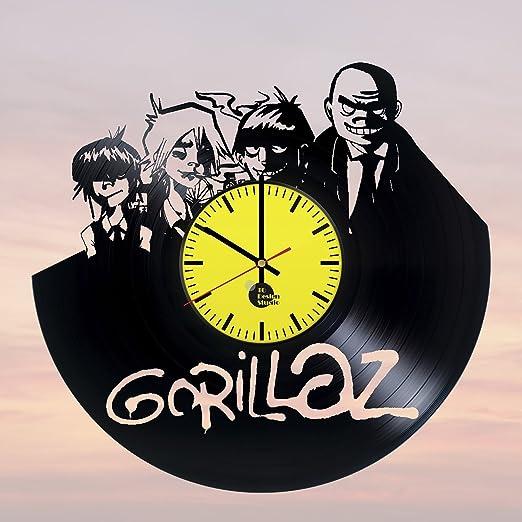 Gorillaz Virtual banda hecha a mano reloj de pared de disco de vinilo fun vintage de regalo único Home Decor Art diseño interier: Amazon.es: Hogar
