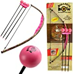 Bullseye Bow Toy Bow and Arrow Set Pink Camo