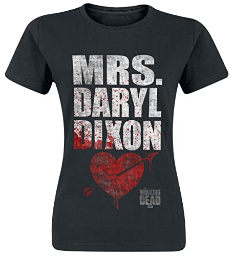 The Walking Dead Mrs. Daryl Dixon Camiseta Mujer Negro S