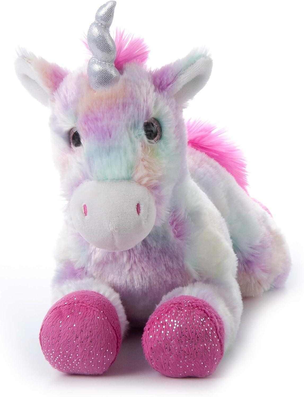 "7/"" Dog Stuffed Animal Tie Dye Pastel Plush New Sparkly Rainbow Purple Easter"