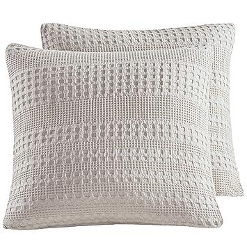 Amazon.com: PHF - Funda de almohada de tejido de gofres ...