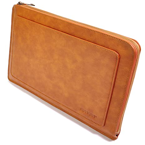 purchase cheap 5f5fd 58116 BENFAN Zippered Padded Mac Book Pro Case 15 Inches Laptop Cases for 15 Inch  Macbook Pro Retina Case Mac Protective Case 15.4 Yellow Brown