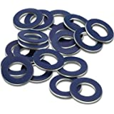 20 Pieces Aluminum Oil Drain Plug Washer Gaskets Compatible with Toyota 90430-12031