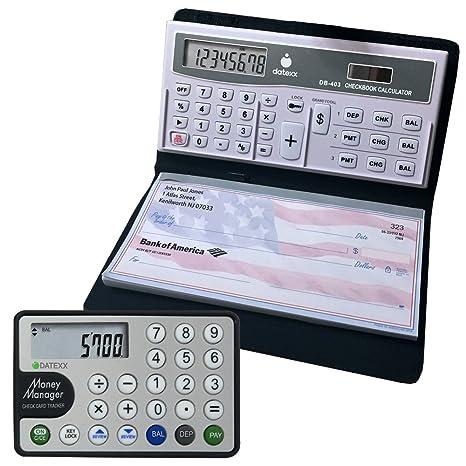 Datexx DB 403 3 Memory Checkbook Calculator Credit