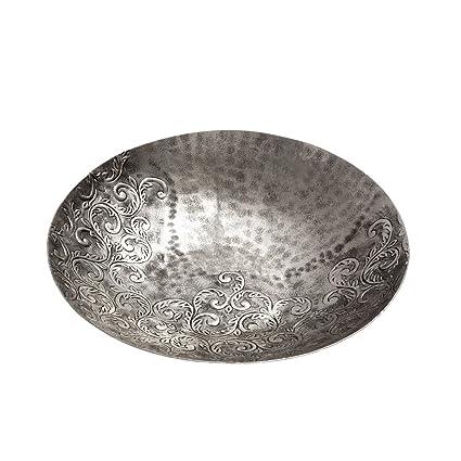 Centro de Mesa de Aluminio Plateado Grabado árabe para Comedor Arabia - LOLAhome