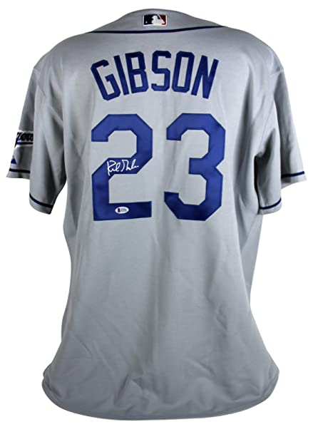 Dodgers Kirk Gibson Signed Authentic Grey Majestic Jersey BAS ... 9598c3b11dc