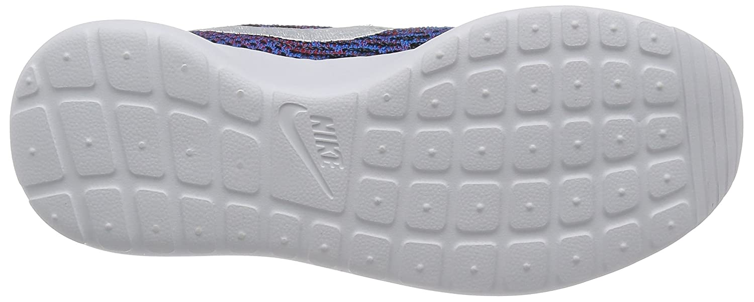 NIKE Womens Roshe One Flyknit Flyknit Colorblock Running Shoes B01HB56NXO 8 B(M) US|Photo Blue/White-red