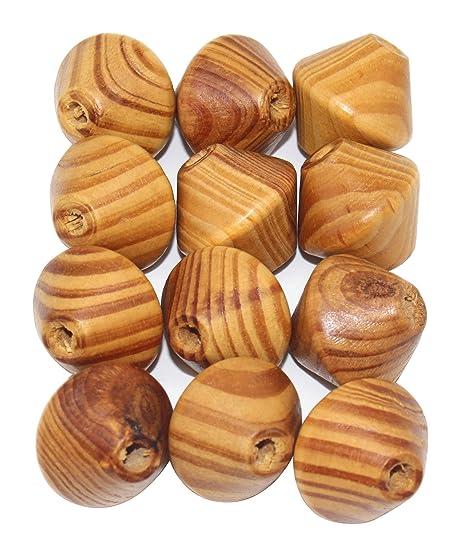 Perchero de pared de madera forma de giroscopios marrón 1 ...