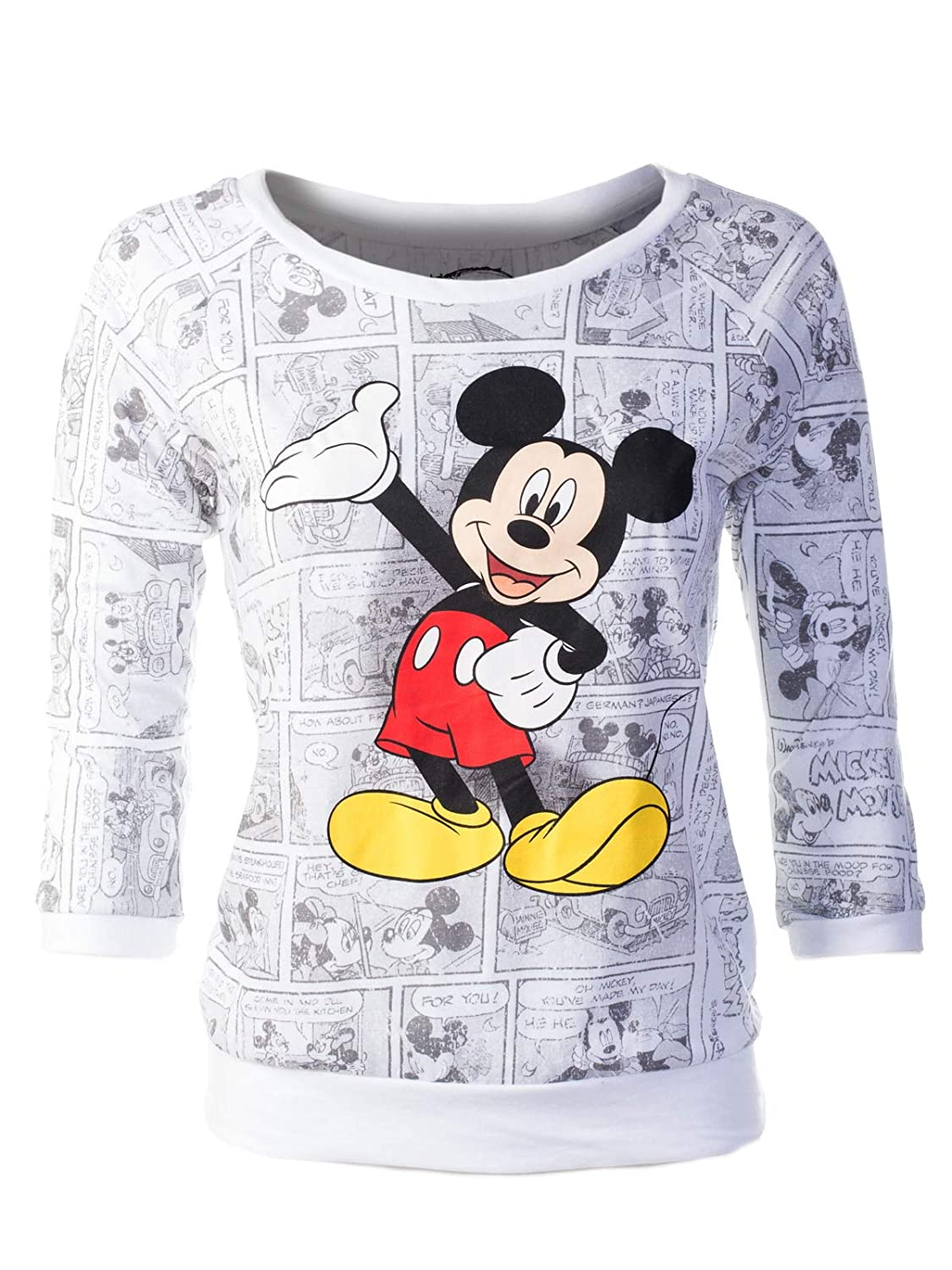 Iptw006 White Instar Mode Women's Round Neck TShirt Minnie Mouse Head Disney Most Orginal Shirts