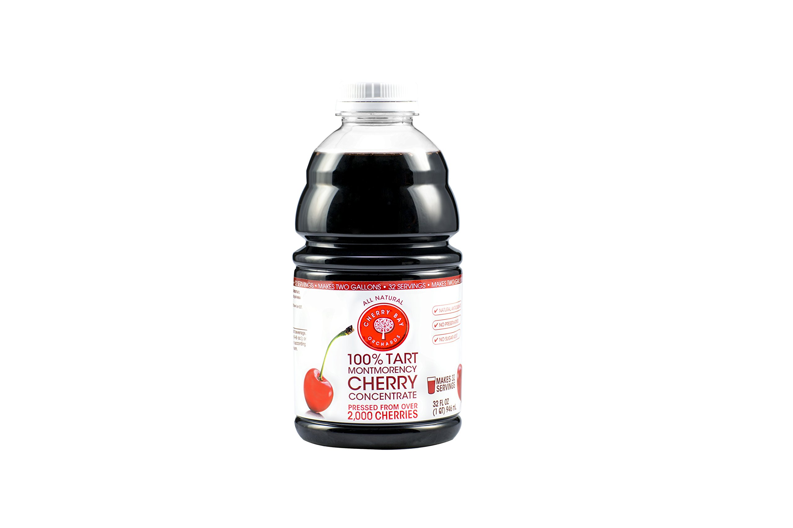 100% Tart Montmorency Cherry Concentrate 32oz Bottle (Case of 8)