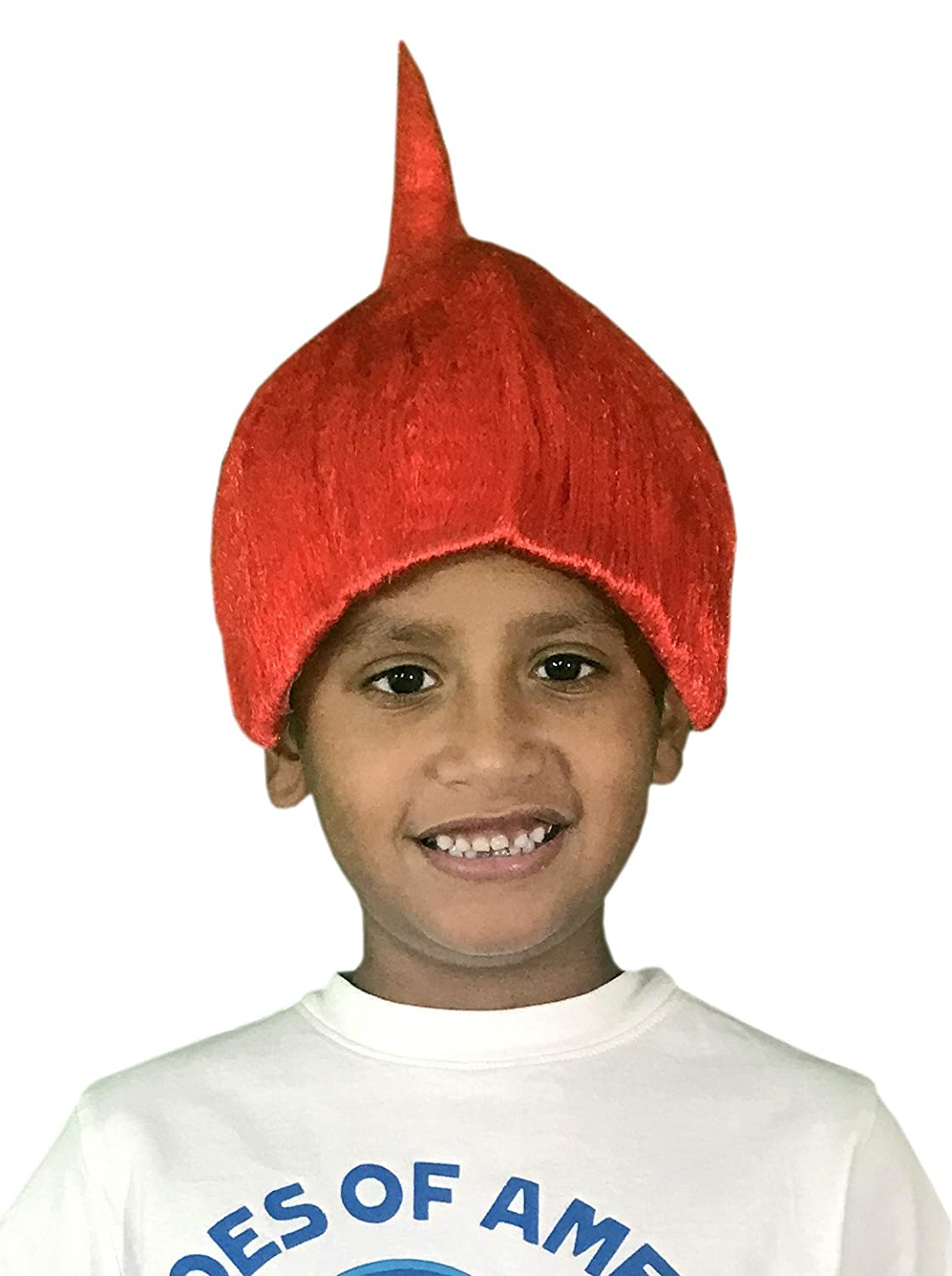 KINREX Red Wacky Wig - Hairy Wig - Wigs for Kids and Teens