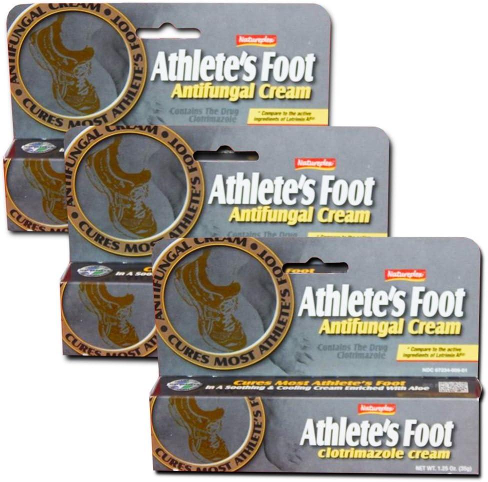 Natureplex Athlete's Foot Antifungal Cream 1.25 Oz [3 pack]