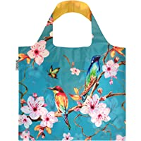Wrapables Foldable, Lightweight, Durable Reusable Shopping Tote Bag, OEKO-TEX Certified, Large, Cherry Blossoms