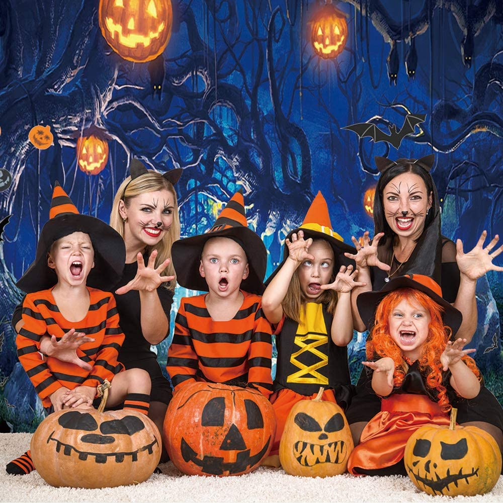 7x5FT SJOLOON Halloween Backdrops for Photography Halloween Photo Backdrop Halloween Party Decorations Vinyl Background Photography Studio Props 9536