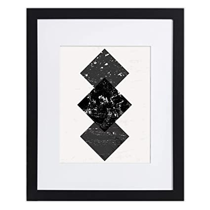 Amazon.com - 11x14 Black Picture Frame - Matted to 8x10, Frames by ...