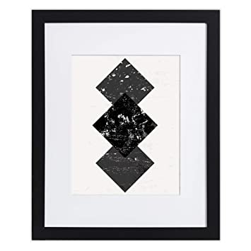 Amazoncom 12x16 Black Picture Frame Matted For 8x12 Frames By